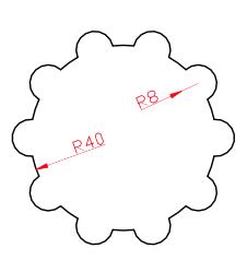 autocad array ve trim komutları alıştırma