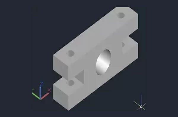 3D çektirme çizimi ara parça