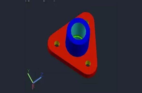 Autocad uygulama 3D dik yatak çizimi