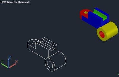 3D ara yatak çizimi dwg dosyası