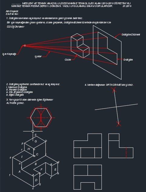 makine teknik resim sınavı cevap anahtarı