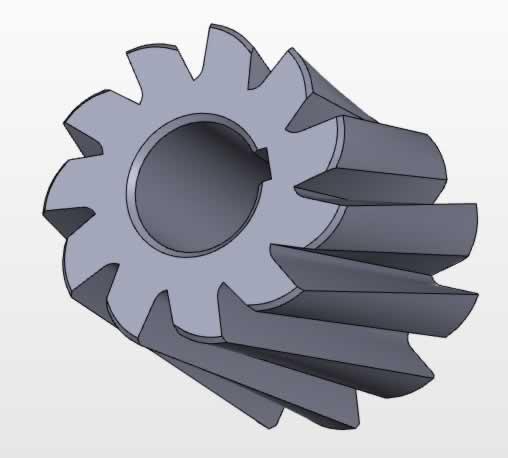 Freze çakısı 2 Solidworks katı modelleme örneği