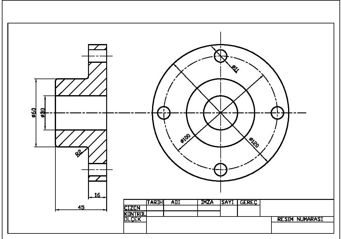 Solidworks Teknik Resim 246 Rnekleri Makine Eğitimi