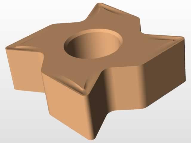 torna kesici takım katı model