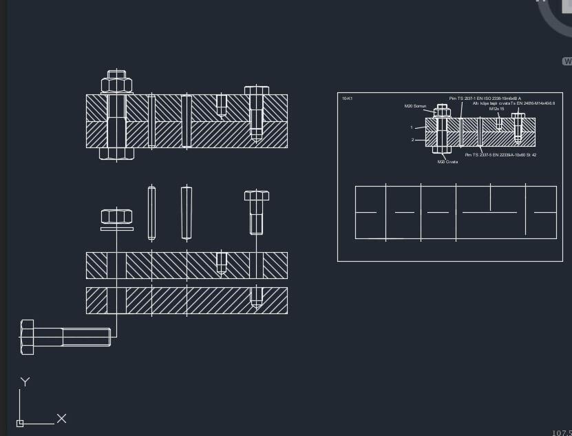 pimli birleştirmeler autocad çizimi indir
