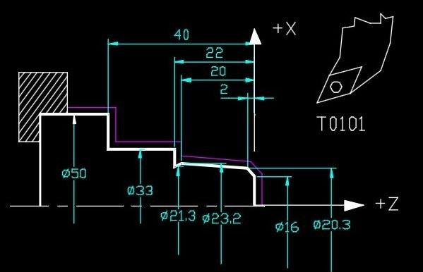 cnc tornalama program örneği alın ve boyuna tornalama