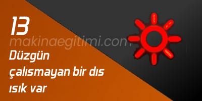 kırmızı güneş araç gösterge ışığı