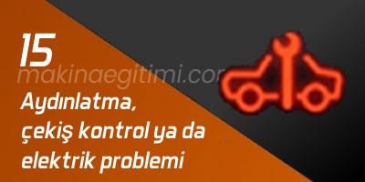 araba göstergeleri çekiş problemi kırmızı araba anahtar