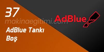 AdBlue Tankı Boş araç gösterge paneli ışıkları