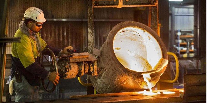 dökme demir imalatı pota eriyik