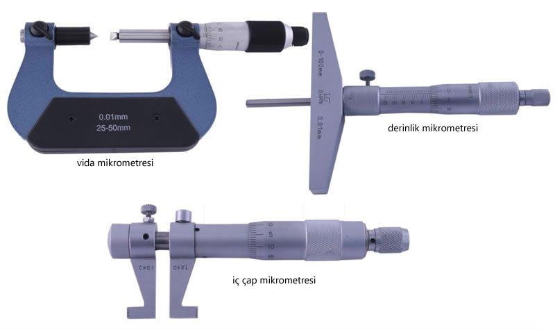 mikrometrelerin çeşitleri