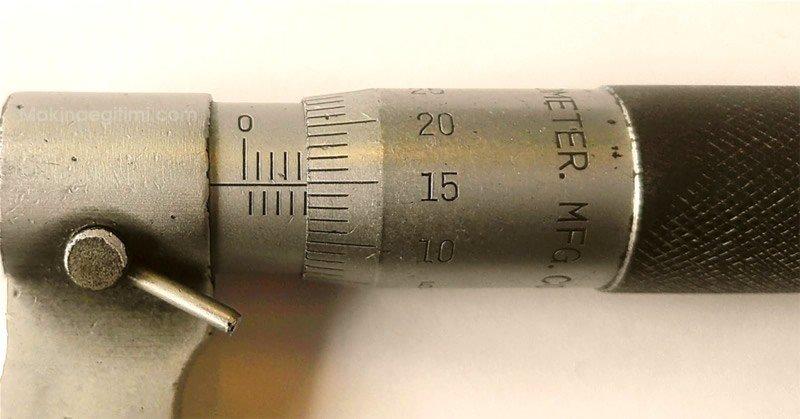 mikrometrenin okunuşu örnek