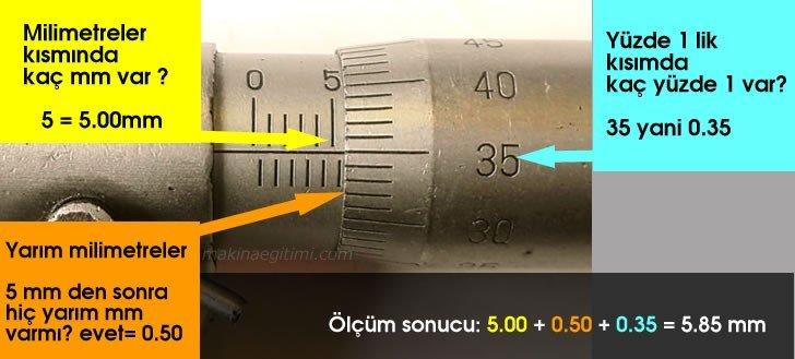 mikrometreyle ölçüm örnekleri resimli anlatım
