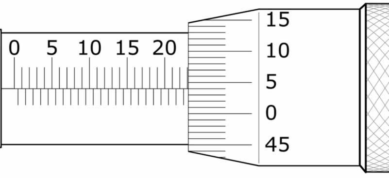 mikrometre soruları 23.04 mm