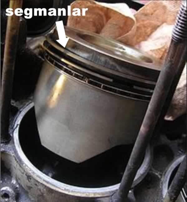 piston segmanları motorda yağ eksiltme