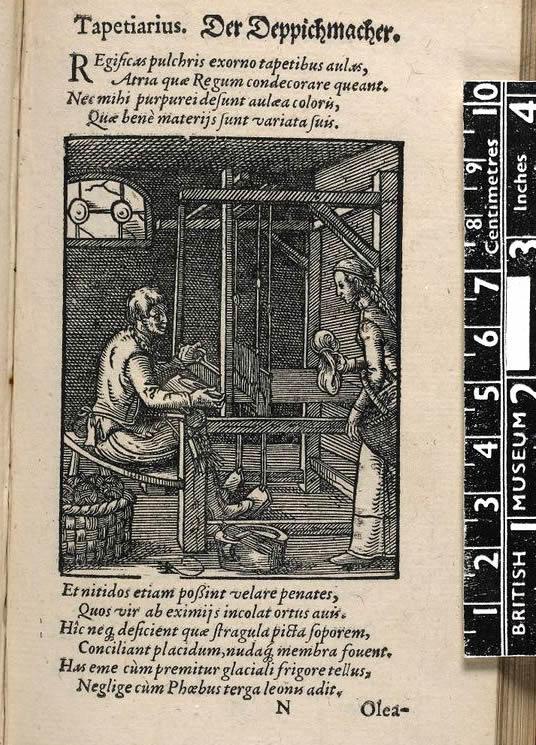 dokumacılığın tarihi orta çağ gravürü