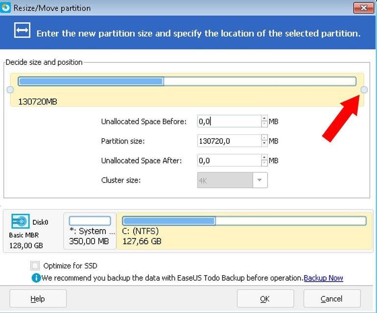hdd diskin boyutunu değiştirme programı