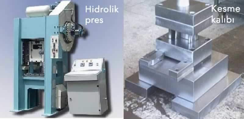 hidrolik pres ve kesme kalıbında segman yapımı
