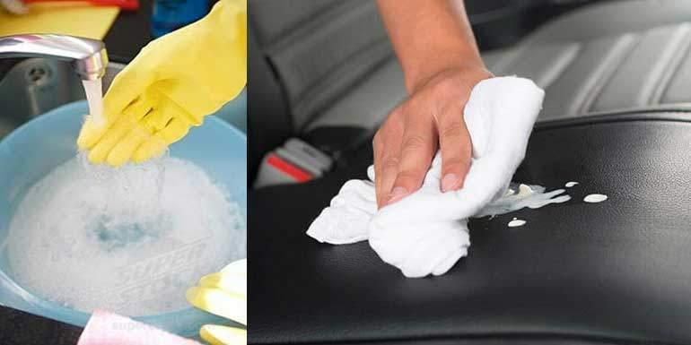 deri koltukların temizlenmesi sabunlu su