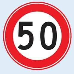 azami hız sınırı trafik levhası