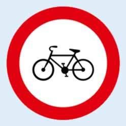 bisiklet giremez trafik levhası