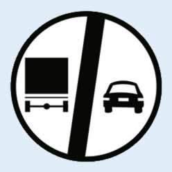 kamyonlar için sollama yasağı sonu