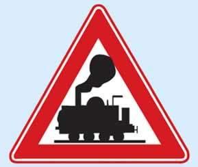 kontrolsüz demiryolu geçidi levhası