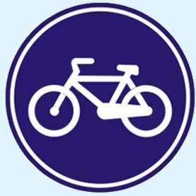 mecburi bisiklet yolu levhası