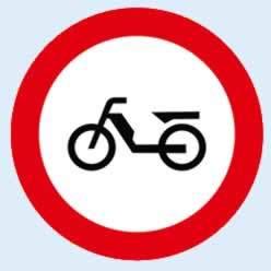 moped giremez trafik levhası