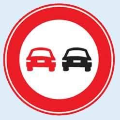 öndeki aracı geçmek yasaktır levhası