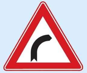 trafik işaret levhaları sağa tehlikeli viraj