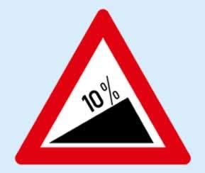 trafik işaretleri tehlikeli eğim çıkış