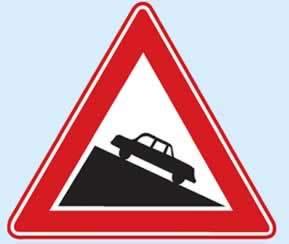 trafik işaretleri tehlikeli eğim