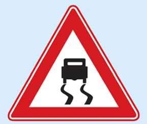 trafik levhaları kaygan yol