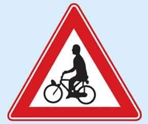 trafik uyarı levhası bisiklet geçebilir