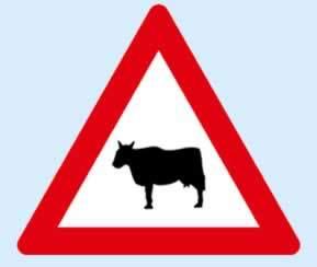 ehli hayvan geçebilir trafik levhası
