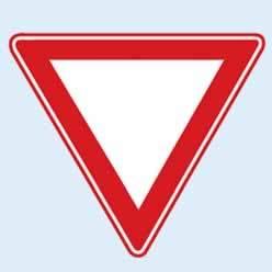 trafik tanzim levhaları yol ver tabelası