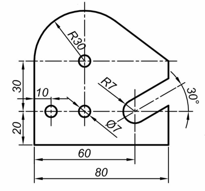 Autocad Solidworks çalışmaları için teknik resim örnekleri 5