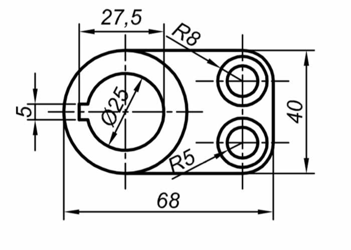 Autocad Solidworks çalışmaları için teknik resim örnekleri 3