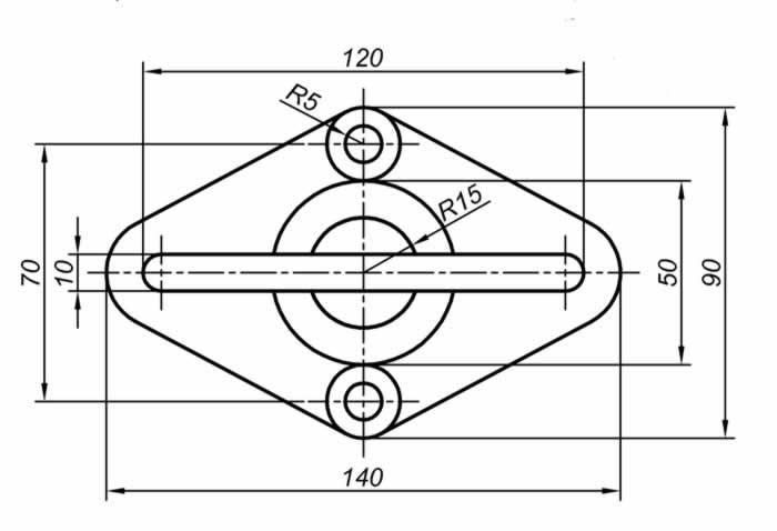 Autocad Solidworks çalışmaları için teknik resim örnekleri 2