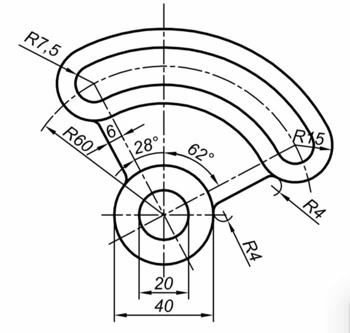Autocad Solidworks çalışmaları için teknik resim örnekleri 1