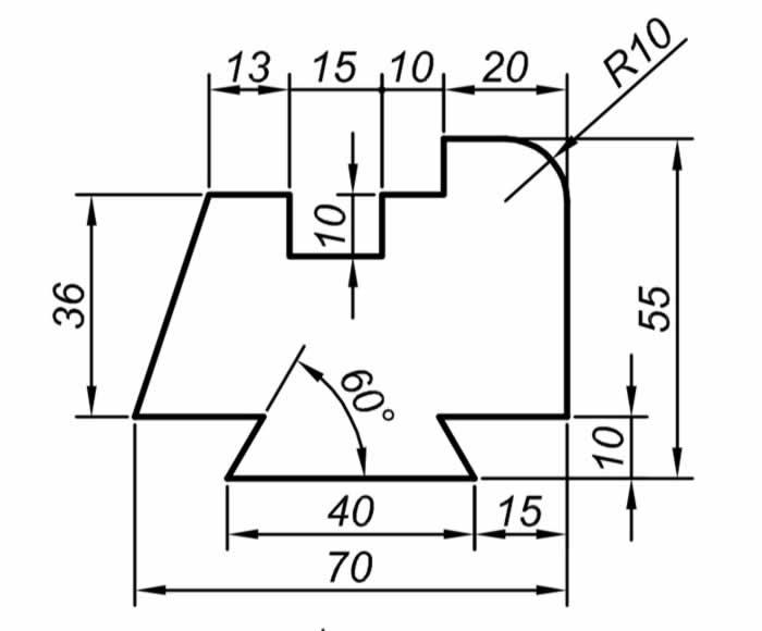Autocad Solidworks çalışmaları için teknik resim örnekleri 6