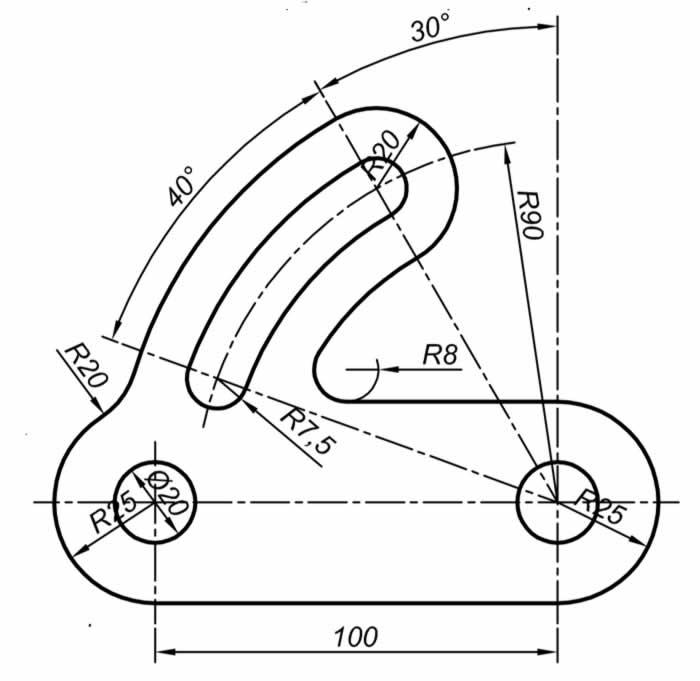 Autocad Solidworks çalışmaları için teknik resim örnekleri 10
