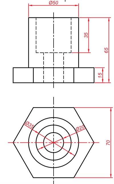 Teknik resim görünüş çıkarma örnekleri 5