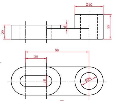 Teknik resim görünüş çıkarma örnekleri 6
