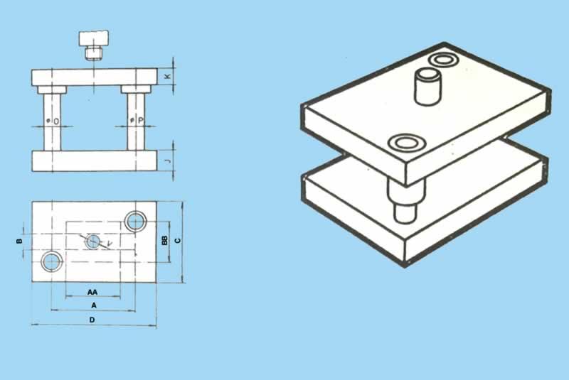 Çapraz sütunlu standart çelik kalıp seti