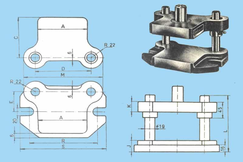 Normal küçük standart çelik kalıp seti