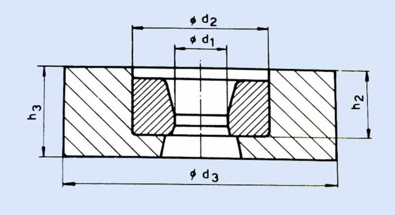 Çelik çerçeveli sert metal dişi kalıp