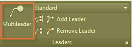 autocad multileader ile datum ekleme