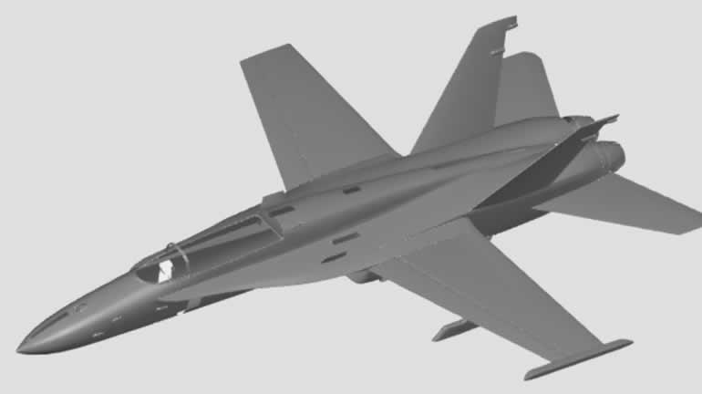 f15 jet uçağı autocad katı model